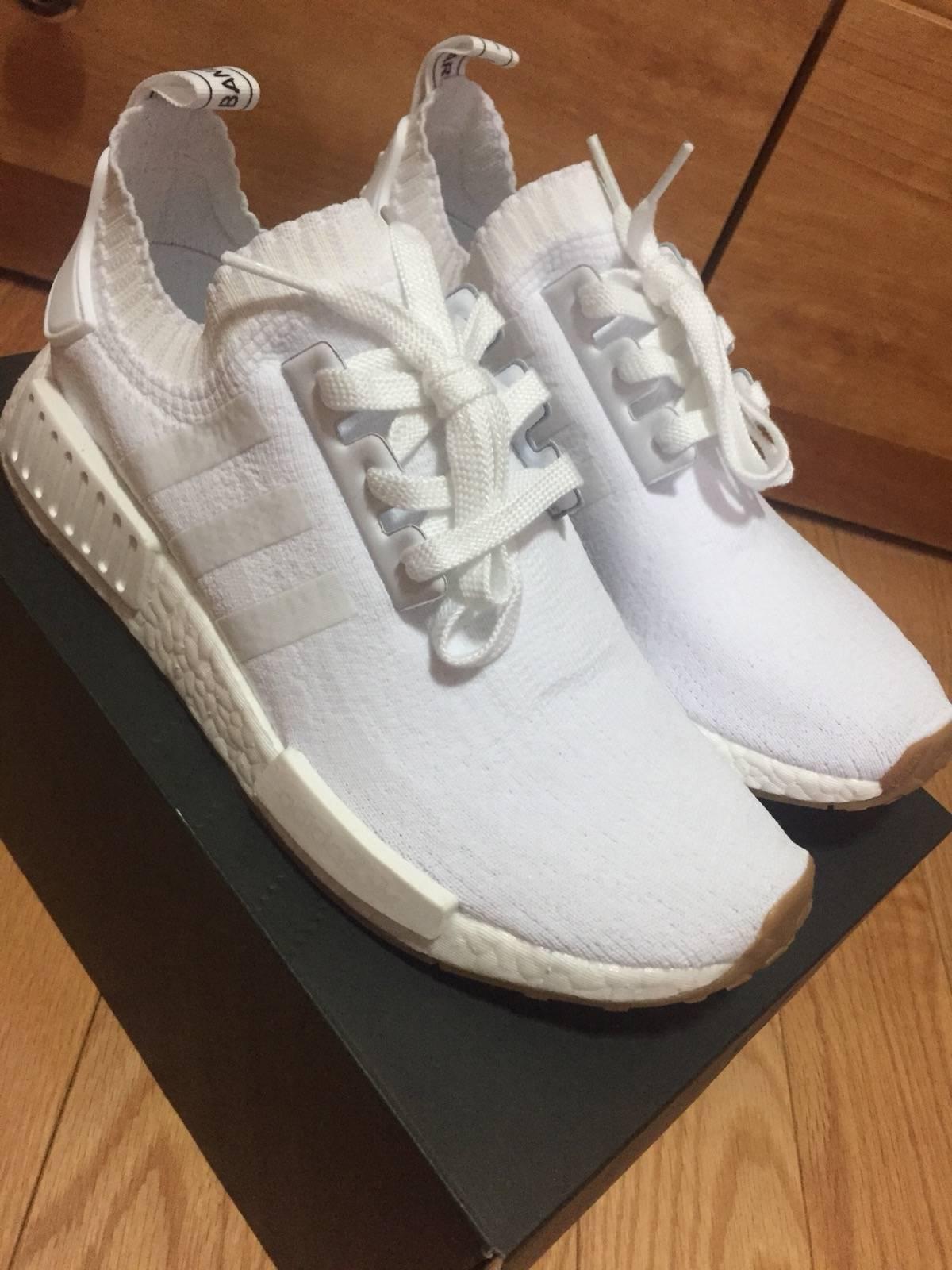 nmd r1 gum pack white