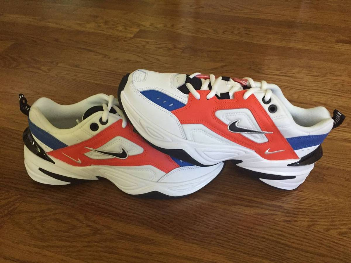 Eléctrico Hacer la vida Clancy  Nike Nike M2k Tekno (women's Size 8.5) Dad Shoe Team Orange/white/blue John  Elliot Ao3108-101 | Grailed