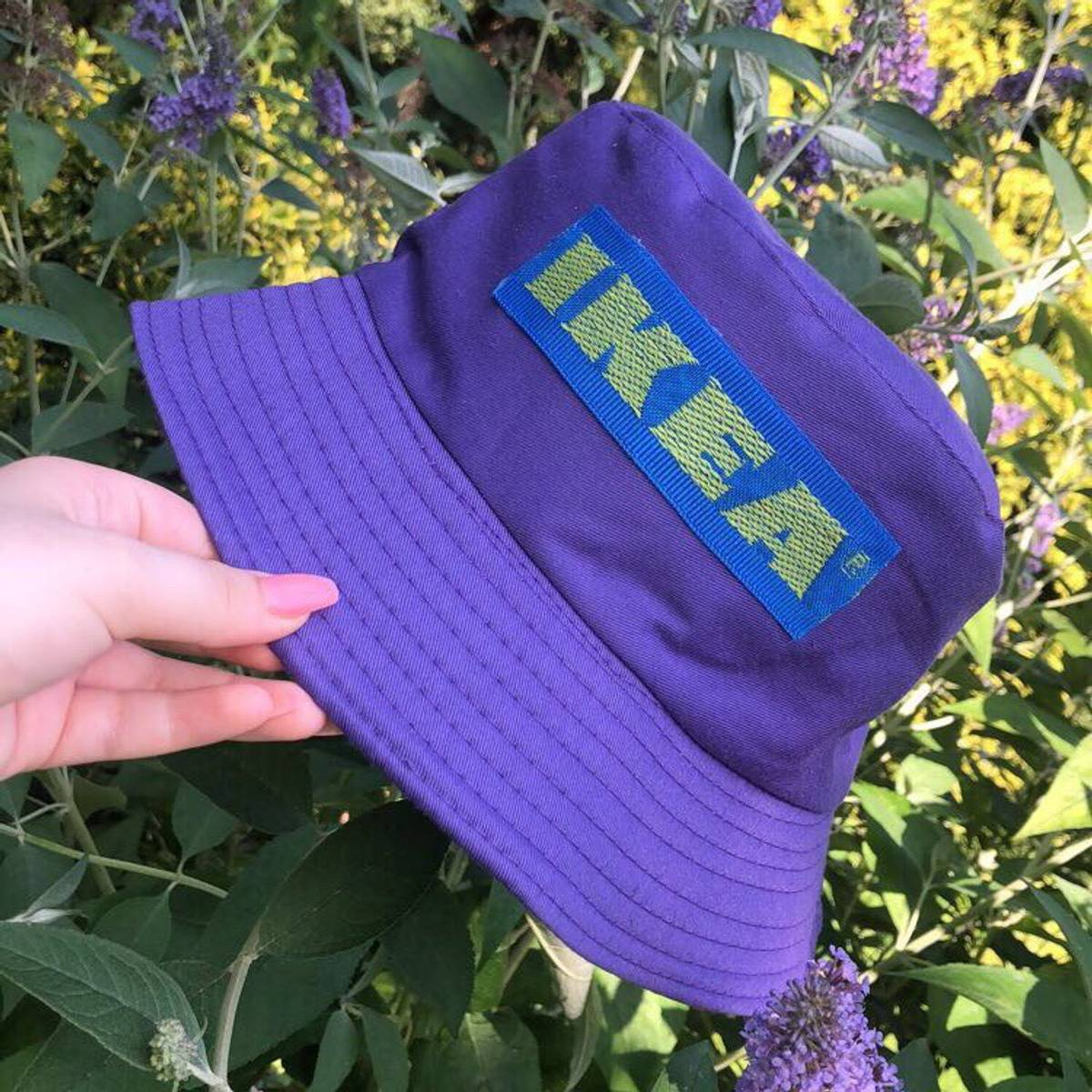 Streetwear Purple Ikea Bucket Hat Grailed