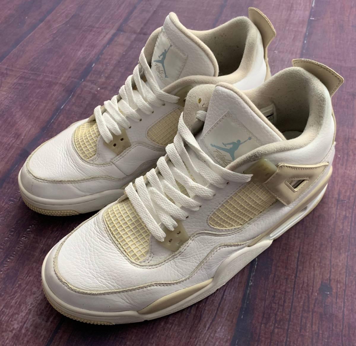 Jordan Brand Nice Jordan Retro 4 Sand Size 8 Men S White Sand Border Grailed