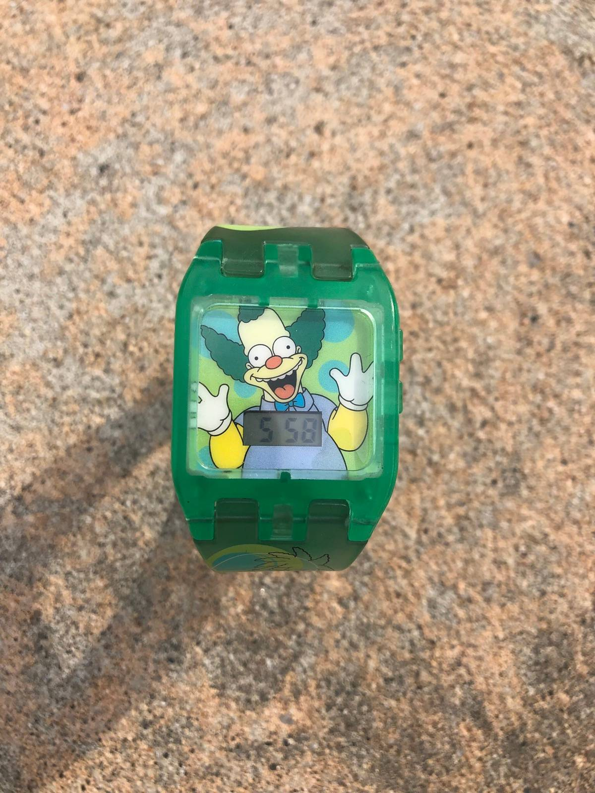 the simpsons the simpsons-krusty the clown Premium toy-burger king 2000