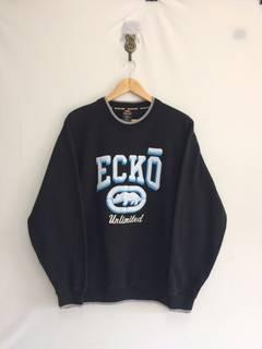 Rare echo function with big logo front n back sweatshirt KTsjdaI1g