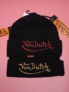 Von Dutch Von Dutch Embroidered Logo Beanie Set 524b9313a29c