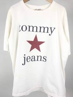 Tommy Hilfiger × Vintage Tommy Star USA Made White 90s Graphic T Rare 7f3ca972ca2c