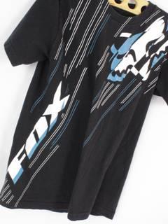 Authentic X Fox Rare FOX Racing Motocross T Shirt Size S Black Shortsleeve White