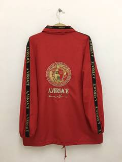 Versace × Vintage × Windbreaker Vintage A. Versace Windbreaker Red Jacket  Medusa Embroidery Logo 6d0118f84d