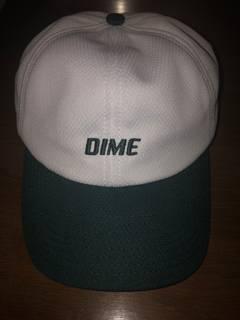 dfd9c59e6 Dime Dime MTL White/Green Logo Baseball Hat