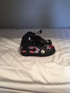 uk availability 0fcc0 81962 Nike × Supreme Supreme Air Force 1 Black NBA Sneakers