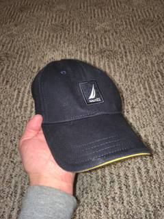 7d8a1051f0b28 Nautica × Vintage Nautica Sailing Navy Blue Fitted Baseball Cap Hat Size  L XL