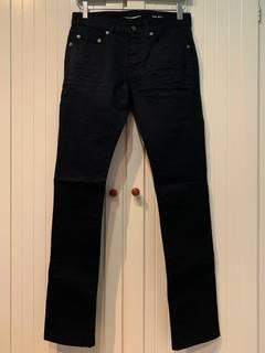8c57deaa7b9 Saint Laurent Paris Slim Jeans in Worn Black Stretch Denim