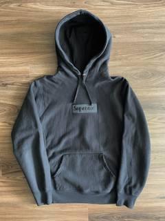 1768d8e8b Supreme Supreme Black/black Tonal Box Logo Hoodie Size Large   Grailed