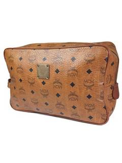 4be910125cd815 MCM MCM logo Pattern Brown Leather Clucth Bag Purse RIRi swisss made in  Germany by MCM