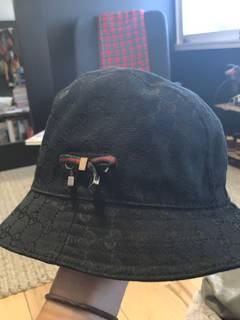 db266998a9bf6 Gucci Gucci bucket hat black.