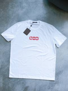 01113424ccf2 Louis Vuitton × Supreme Louis Vuitton x Supreme Monogram Box Logo T-shirt  in Blanc