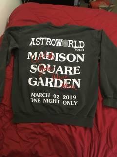 78d92b567741f4 Travis Scott Madison Square Garden (MSG) - Astroworld I  3 NY Crewneck  Sweatshirt