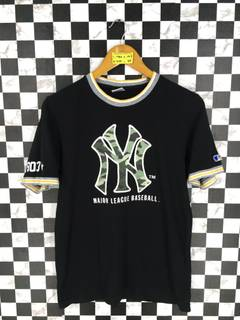 0ab5edb3b Mlb × New York Yankees New York YANKEES Baseball T shirt Women Large  Vintage 90s NY