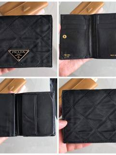 987f93e557b3 Prada Prada Black Nylon Leather Wallet