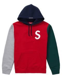 0e25b011 Supreme Supreme Ss19 S Logo Colorblocked Hooded Sweatshirt Red L ...