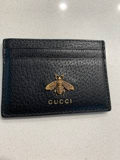 97b397c66b6f Gucci Gucci Men's Bee Leather Card Case Wallet