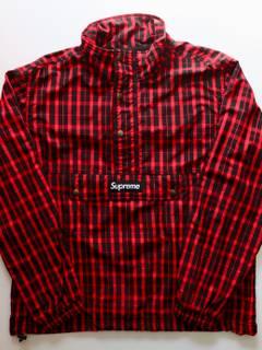 6b79f285a747 Supreme Supreme Red Nylon Plaid Pullover Checkered Anorak Fw18   Grailed