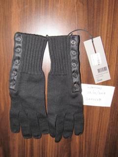 1376d6a2 Dior × Hedi Slimane Rare Dior Homme Slimane Era Satin Placket Black Wool  Gloves NWT