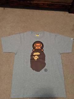 8cb4b2c5 Bape Bape Multi Color Camo Ape Head T-shirt Tee With Baby Milo ...