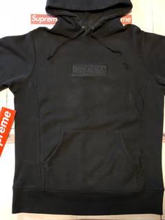 c3c5dd5eb Supreme black tonal box logo hoodie   Grailed