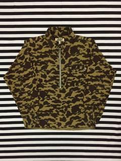 220e2ccee26a Bape RARE Bape 1st Camo Half Zipper Pullover Shirt