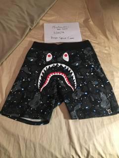 ca7c3132f6 Bape Bape Shark Camo Swim Shorts Glow In The Dark   Grailed
