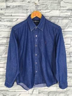 79ba2a74 Polo Ralph Lauren × Vintage Vintage 90's Polo RALPH LAUREN Denim Shirt  Medium Ralph Lauren Jeans