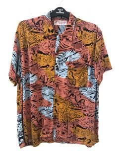 d6020326 Hawaiian Shirt × Vintage Vintage Santamonica Made in California 100% Rayon  Camp Collar Hawaiian Shirt