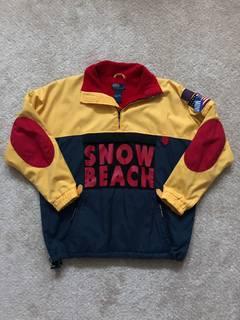 97f5637bb2b Polo Ralph Lauren GRAIL True Vintage 1993 Snow Beach Yellow Fleece Jacket