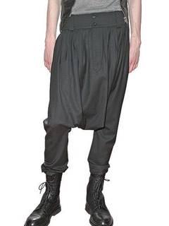 5912e6689da Dior × Hedi Slimane Dior Homme 07AW Runway Black Drop Crotch Pants