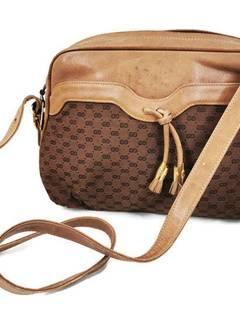 7a9a6535a47a5 Gucci Camel Brown & Leather Micro Gg Monogram Medium Crossbody ...