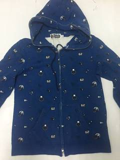 80bb882f Bape Bape Hoodie Blue Zipper Baby Milo NFL Design Dot World Gone Mad