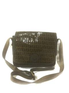 9a9a4776955 Fendi × Vintage Authentic Vintage Fendi Shoulder Bag Monogram Zucca