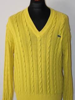 5826283a2 Lacoste Vintage Mens Chemise Lacoste V-Neck Jumper Sweater