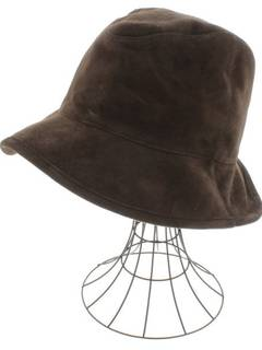 26d84667d6e Kijima Takayuki Goat leather brown suede bucket hat size 1