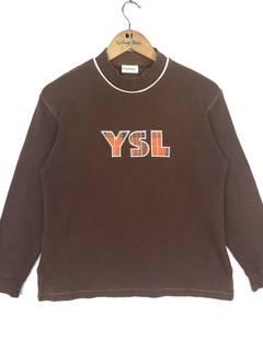 266b1a35 Saint Laurent Paris × Yves Saint Laurent Vintage YVES SAINT LAUREN Big Logo  Sweatshirt Brown Colour