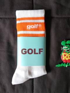 9fa0f3215bd8 Golf Wang Golf Wang Letters Orange Stripe Socks