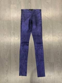cdc4230b8db45c Haider Ackermann Cracked saturated purple stretchy leggings