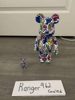 b5a31e518 Keith Haring × Medicom Bearbrick Keith Haring 400% + 100%