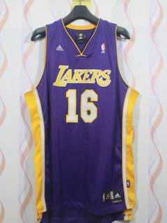 Adidas × L.A. Lakers × Lakers Adidas Los Angeles Lakers Paul Gasol Sewn Jersey  Nba Basketball d8daa8fc9