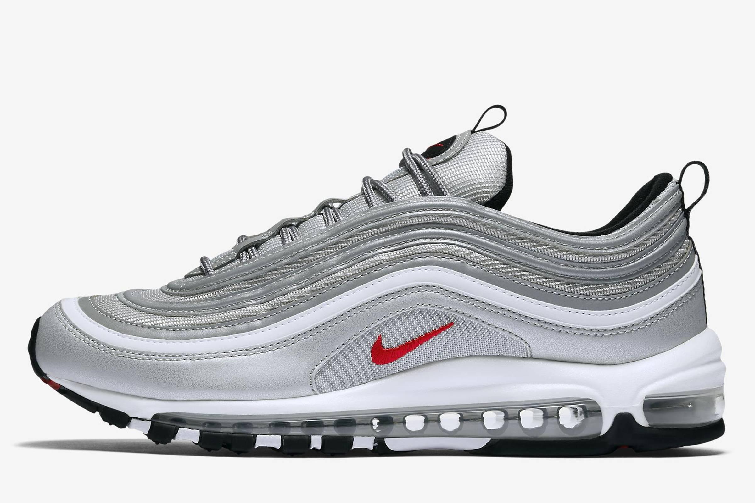 AIR MAX 97 - Sneaker low - grey/ royal blue/ white Oe0Cj