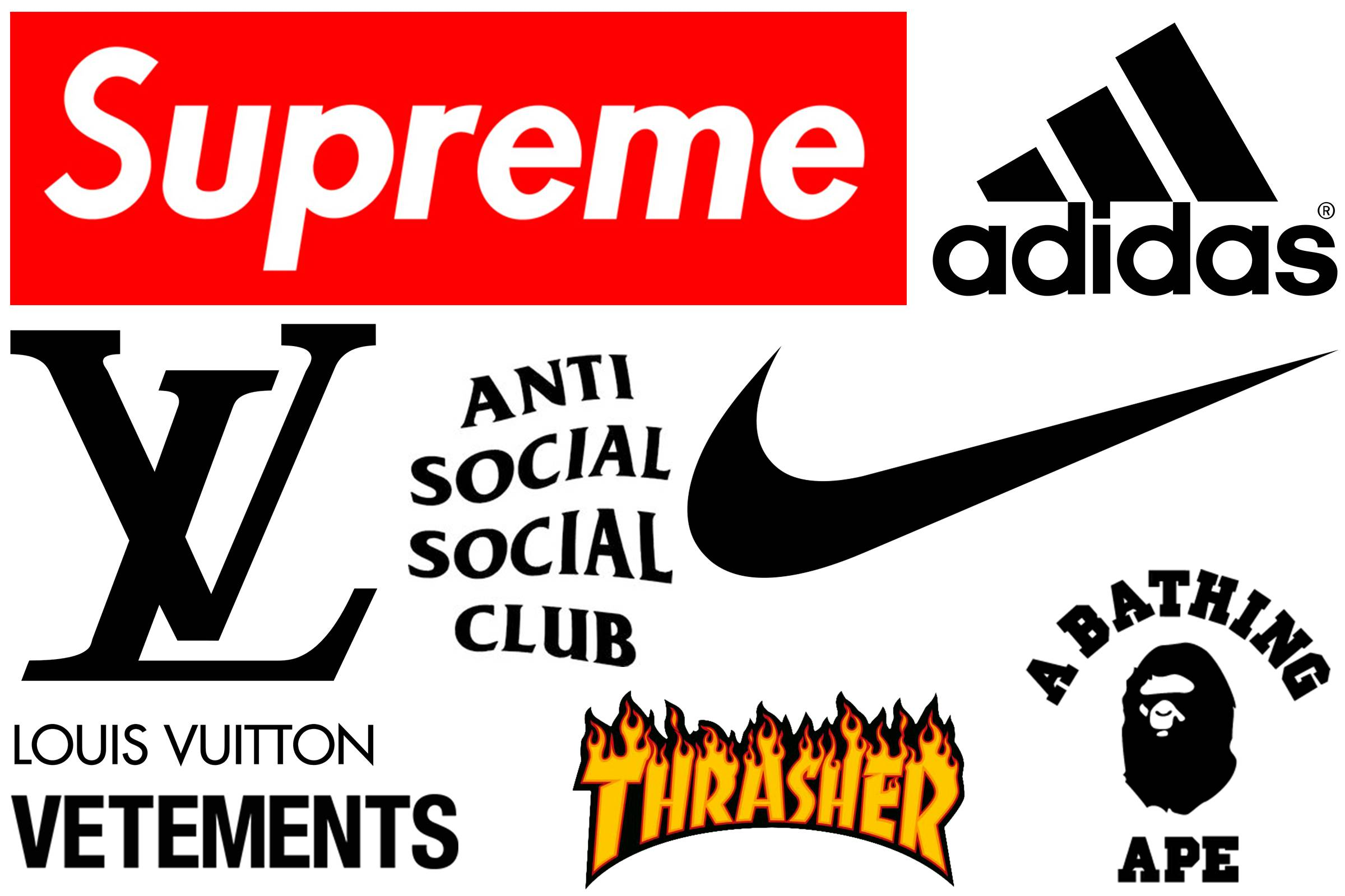 a rumination on streetwear and high fashion s logomania streetwear