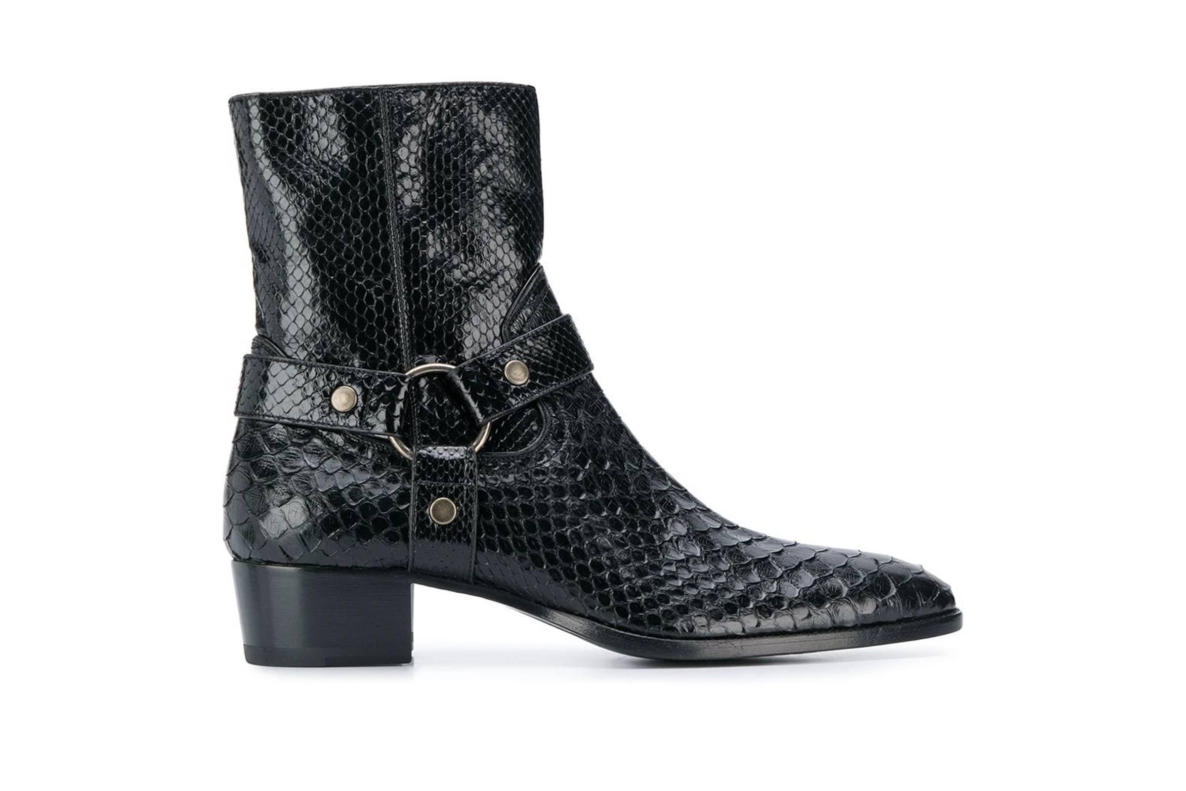 Saint Laurent Paris Wyatt Boot in Python