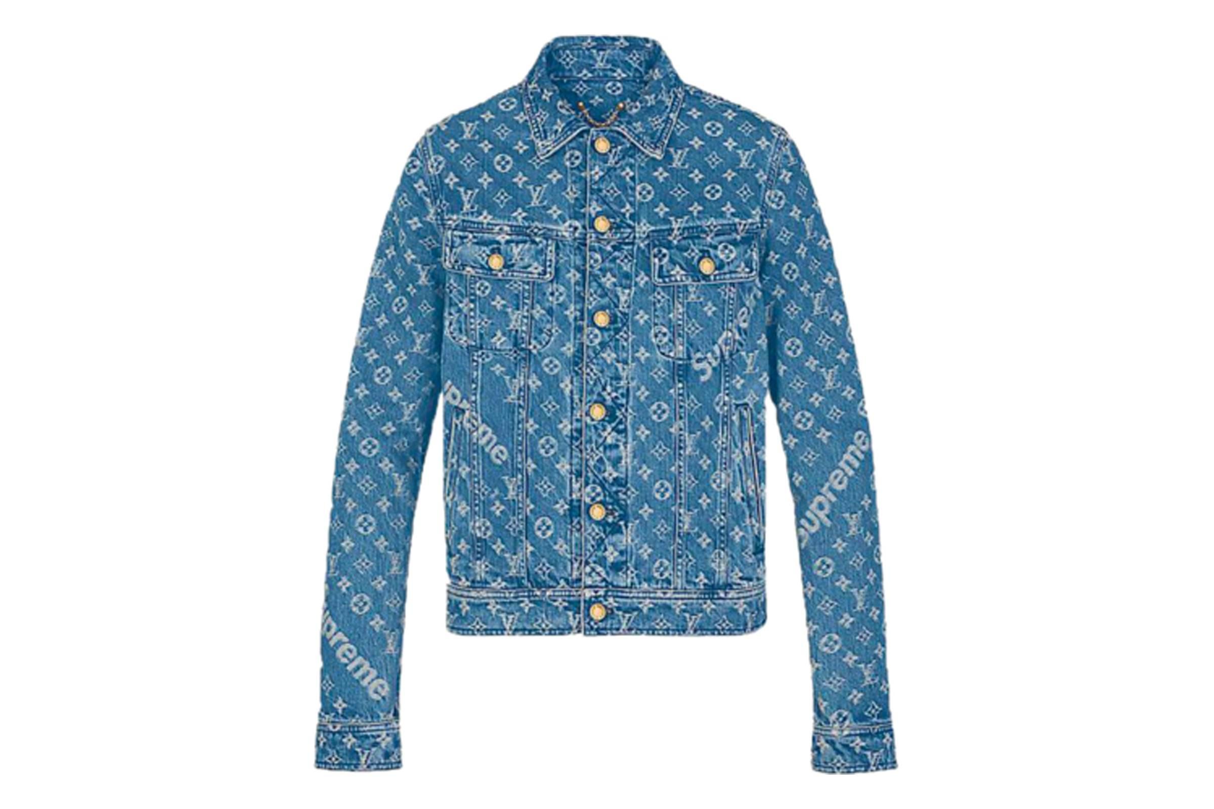 Louis Vuitton x Supreme Jacquard Denim Trucker Jacket