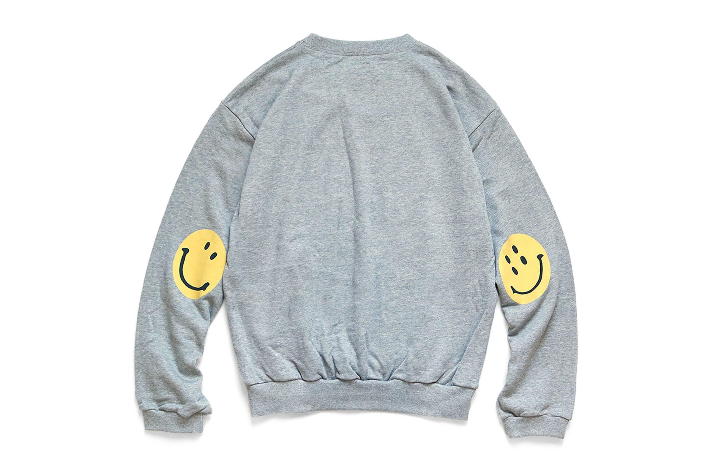 Kapital Smiley Face Eco Fleece Crewneck