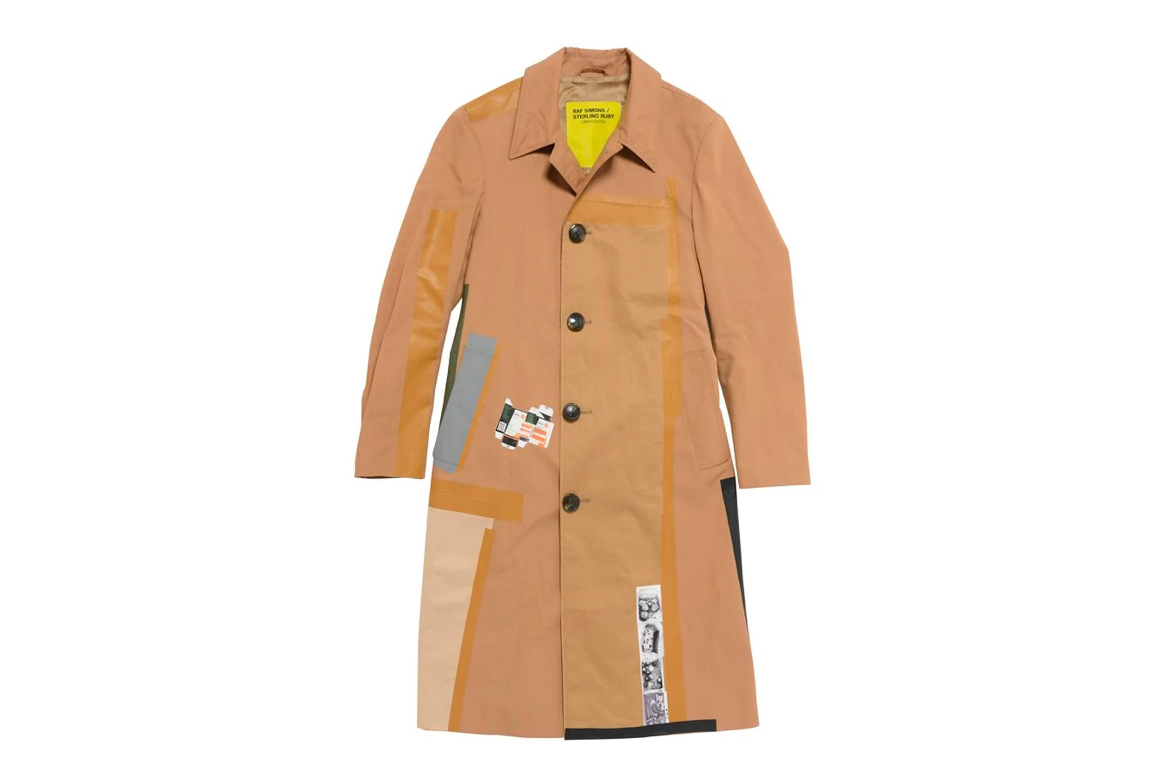 Raf Simons x Sterling Ruby Collage Trench Coat