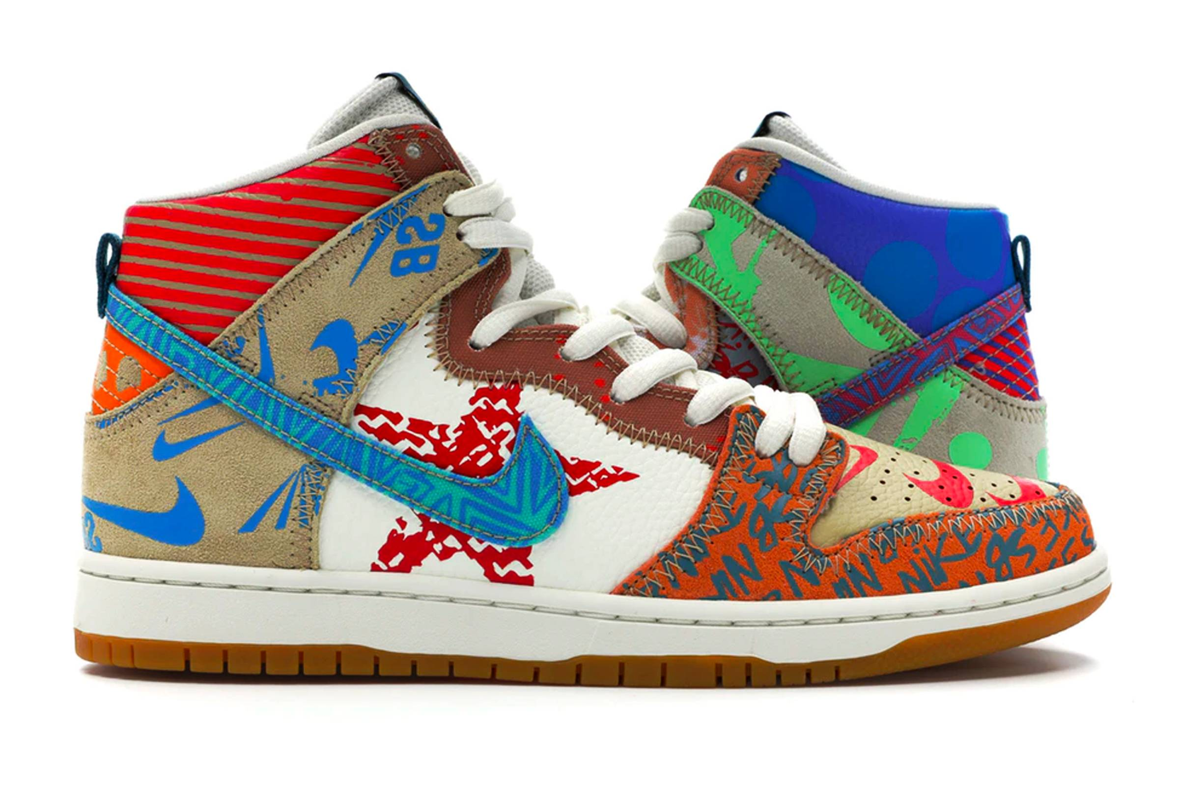 "Thomas Campbell x Nike SB Dunk High ""What The Dunk"""